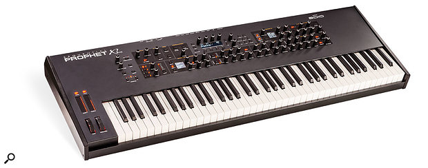 Sequential Prophet XL 76‑note keyboard synthesizer.