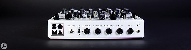 The Lyra-8's back panel houses quarter-inch sockets for CV and gate, external input and audio output. There's also a  3.5mm headphone port.