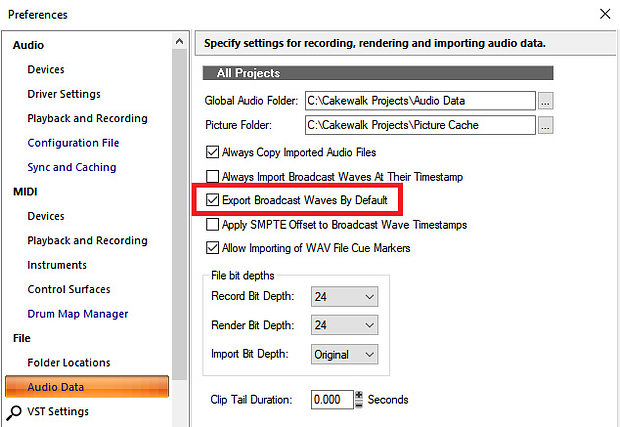 It's usually best to export Broadcast WAV files, because most hosts will be able to place your audio clips and tracks correctly on the timeline.