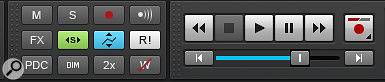 The Exclusive Solo button (green) and Envelope/Offset Mode button (blue) in the Control Bar are very helpful in the final stages of finishing a  project.