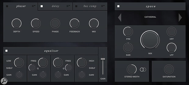The library includes a suite of Kontakt effects.
