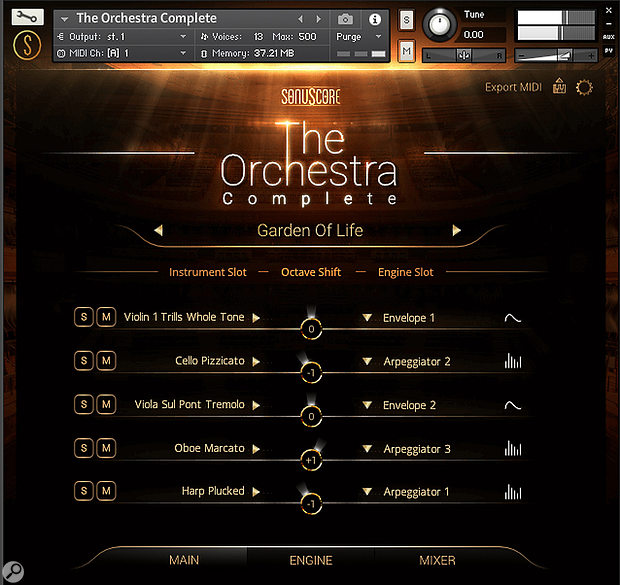The sound palette available to TOC's Engine is now expanded with the Strings Of Winter content, along with the Timpani and Tubular Bells.