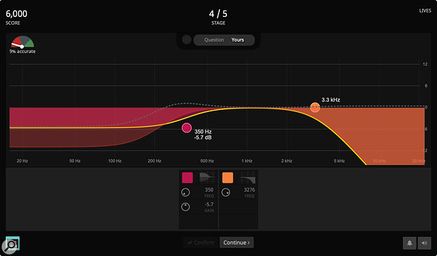 Kit Cut challenges you to match randomly generated EQ settings by ear.