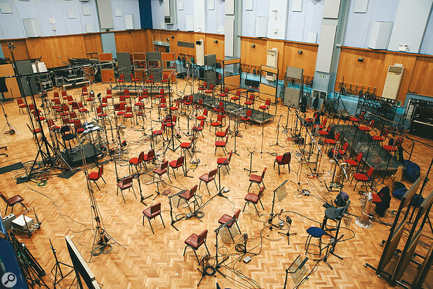 Abbey Road Studio One during a break in orchestral recording.