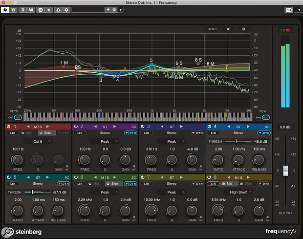 Frequency 2 adds dynamic EQ and multiple side‑chain support to Cubase Pro's flagship EQ plug‑in.