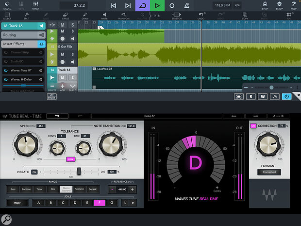 High‑quality pitch correction is now available within Cubasis via the inexpensive Waves Tune Real‑Time Plug‑in IAP.