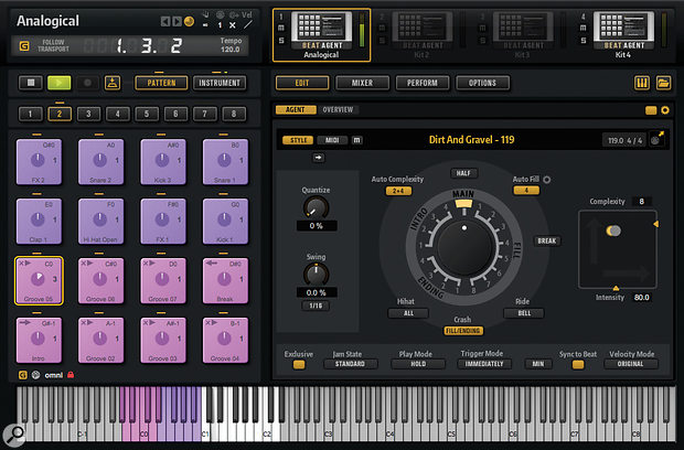 Groove Agent's excellent Style Player can now be used with Beat Agent as well as the Acoustic Agent.