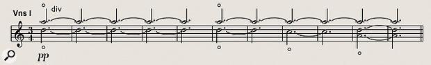 Diagram 7: Six violins play delicate, ethereal harmonics on Anathema's 'IMade aPromise'.