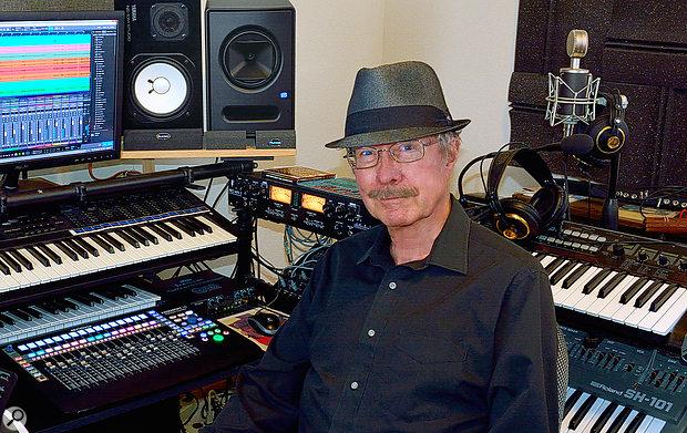 The author, Dennis J Wilkins, in his studio.