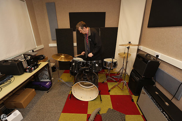 The combination of carpeted walls and floor meant that the live room wasn't sounding very live at all...