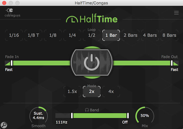Cableguys HalfTime plug-in.