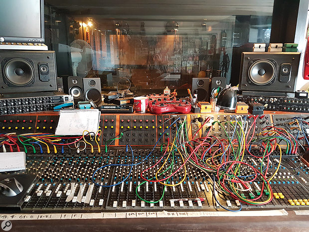 Tomas Skogsberg's custom console at Sunlight Studios.