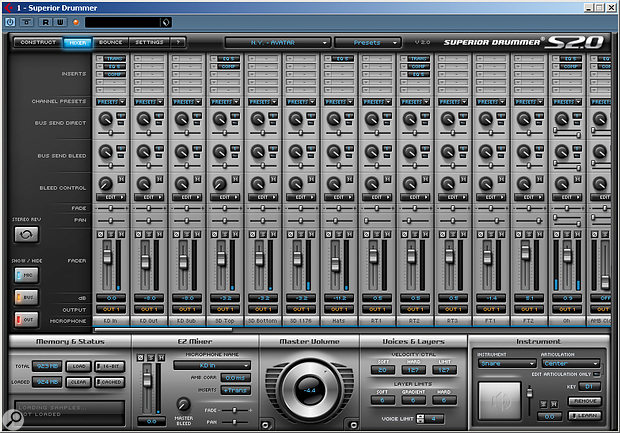 SD 2.0 includes a fully–featured Mixer window with a separate channel for each mic position.