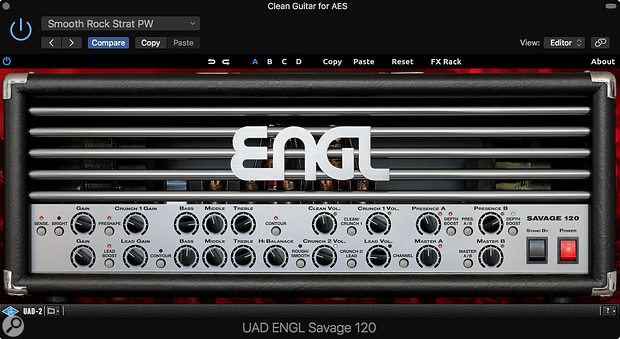 The ENGL Savage 120 valve amp head.