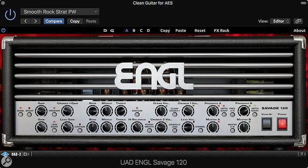 The ENGL Savage 120 valve amp head.