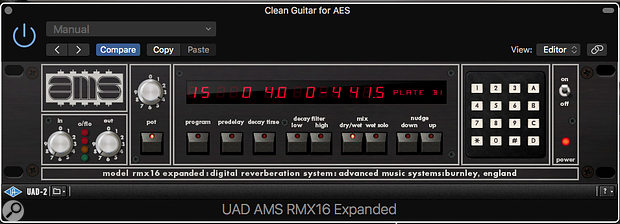 UAD RMX16 Expanded plug-in.