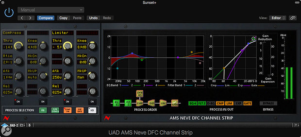 Universal Audio UAD 9.7 - AMS Neve DFC Channel Strip plug-in.