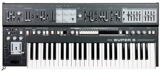 The Super 6's panel design—classic with some distinctly modern touches—seems to sum up the whole ethos of the instrument.