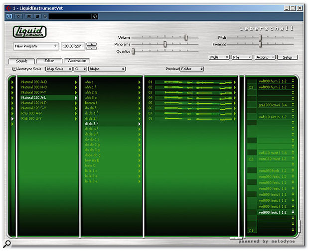 LI The Voice Volume 2, showing the mini-waveforms displayed for each individual loop.
