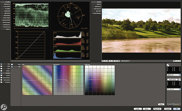 Color Finesse 3 LE allows very accurate control over colour correction and grading in its own interface.