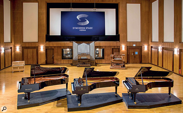 VSL's Synchron Stage piano collection also includes the company's older Bosendorfer 290 Imperial (far left).