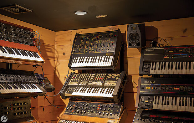 Vince Clarke's basement studio in New York houses an enviable collection of analogue instruments.
