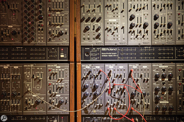 The Roland System 100M was Vince's first fully modular synth.