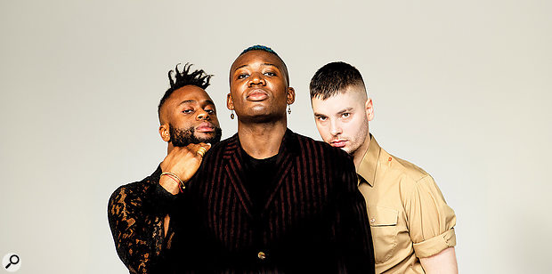 Young Fathers: left to right, Kayus Bankole, Alloysious Massaquoi and Graham 'G' Hastings.