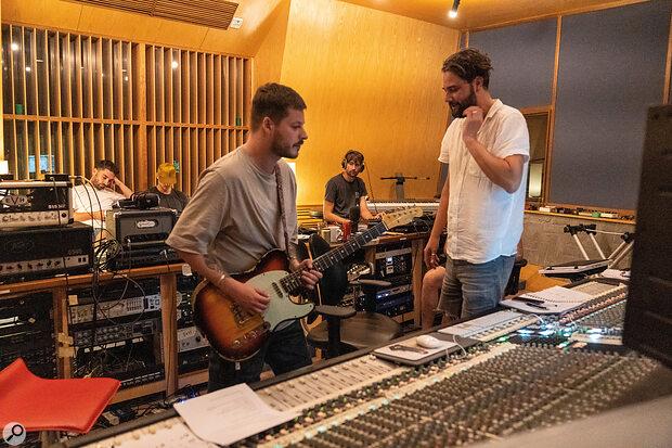 Band and producer at Karma Studios, Bang Saray, Thailand.