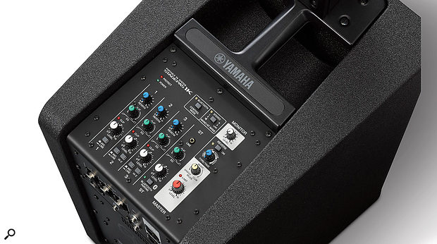 The integral mixer can handle up to five inputs, including a stereo Bluetooth stream for music playback.