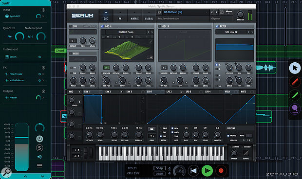 ALK2 can host VST or AU plug-ins and virtual instruments.