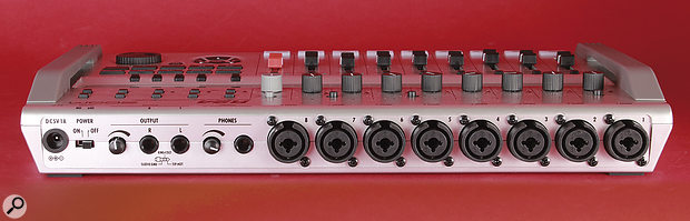 There are eight inputs on the rear panel, all on combination XLR/Jack sockets, and six of these can provide phantom power.