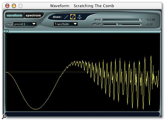 The Wave Editor, deceptively simple in presentation, even allows waveforms to be drawn from scratch, as well as being imported.
