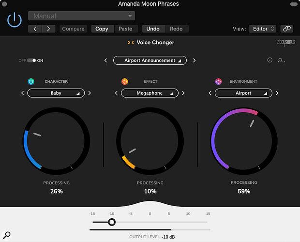 Accusonus Voice Changer  Voice Processing Plug-in