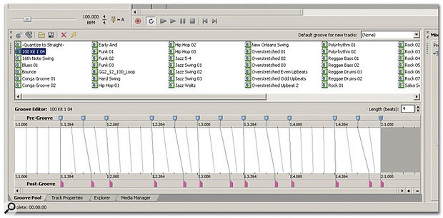 Groove Maps can be inspected and edited within the Groove Pool window.