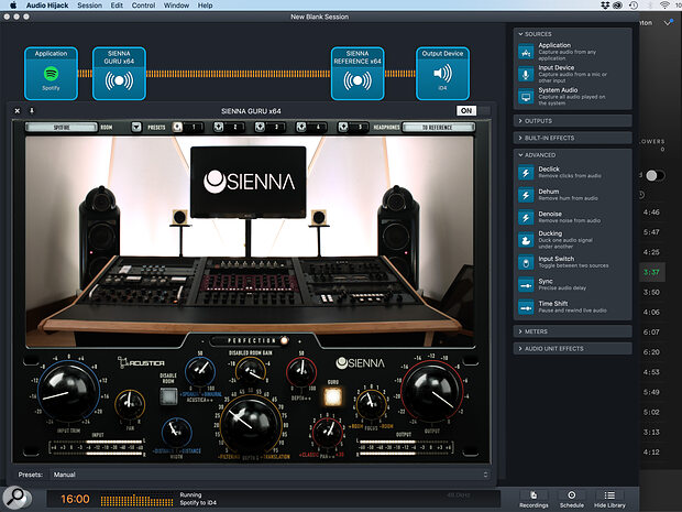 There may be no 'systemwide' version of Sienna yet, but third‑party apps including Audio Hijack can allow it — or other plug‑ins, such as meters — to be used in that way.