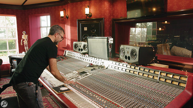 Adrian Bushby Drum Tracking mixing console