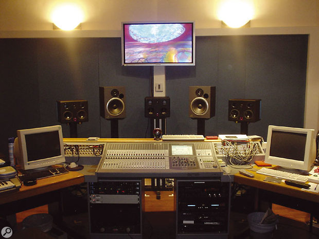 The main Afro Celts studio is based around a Sony DMX R100 digital desk, with a Quested surround monitor system.
