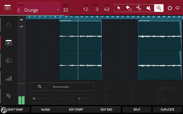Audio Tracks are easy to edit in the touch user interface.