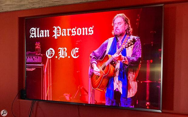 Alan Parsons OBE TV screen
