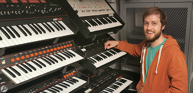 Alex Ball ARP synthesizer collection