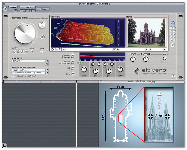 Many of Audio Ease's preset IRs come with extensive visual information about the space that has been 'sampled'.