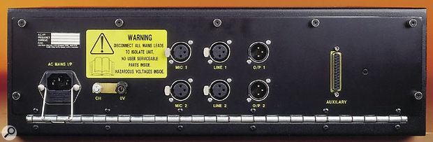 AMS Neve 1081 Classic rear panel.