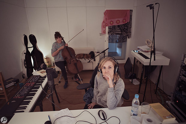 Agnes Obel often uses cello recordings as a basis for experimental cut-up techniques.