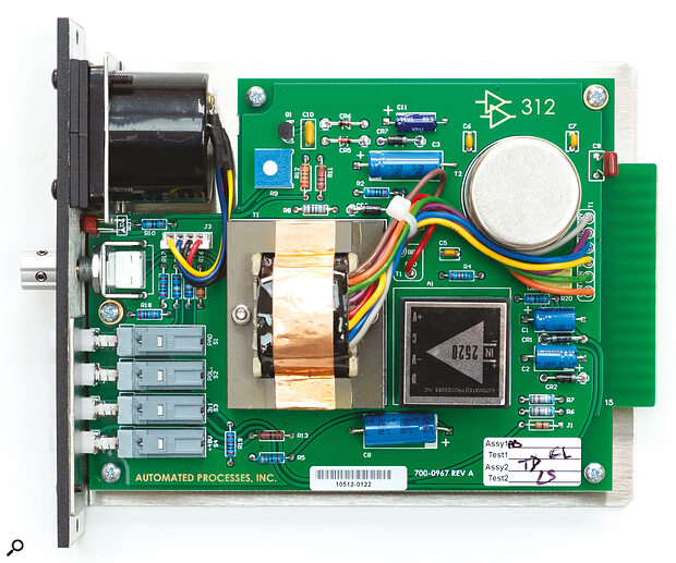 API 312 showing PCB and components.