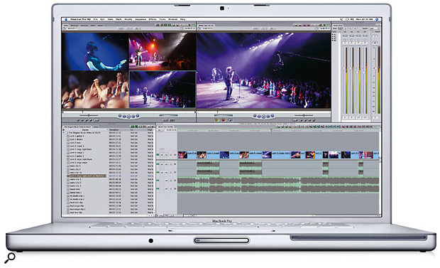 The 17-inch Mac Book Pro builds on the spec of the 15-inch model by adding a larger display, along with a Firewire 800 port, an extra USB 2.0 port and all the optional extras. Could this be the ultimate mobile music system? (Photo courtesy of Apple.)