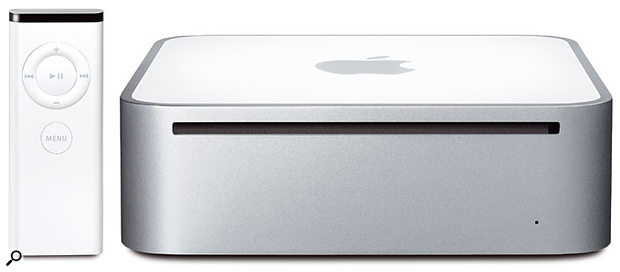 The new Intel-powered Mac Mini now includes an Apple Remote for the included Front Row software, which makes it easier to access your media content.