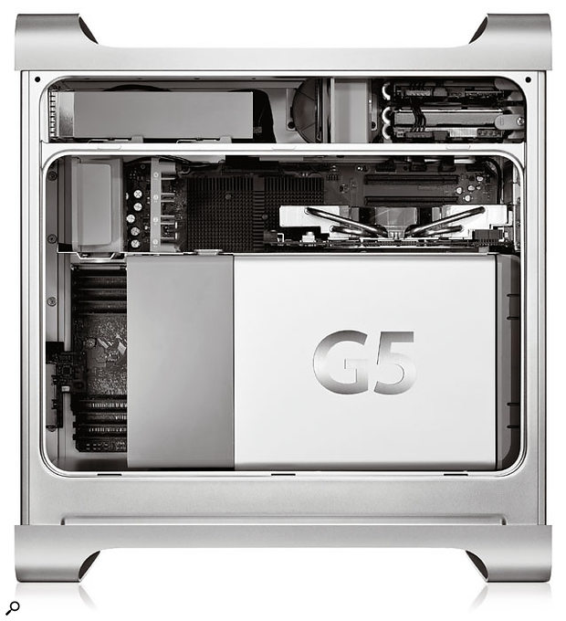 The new Power Mac G5 Quad is a seriously powerful beast, featuring four 2.5GHz G5 processor cores, the ability to host 16GB RAM, and PCI Express slots for graphics and other expansion cards.