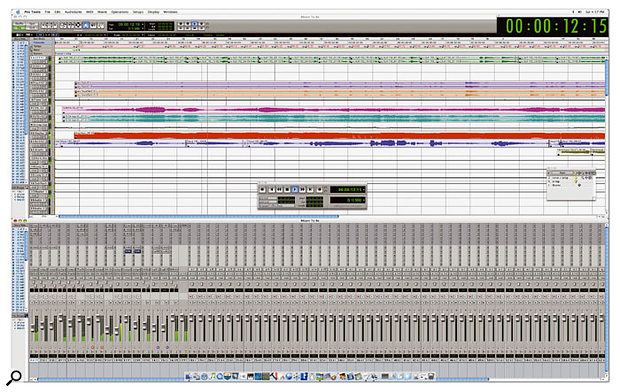 Running Pro Tools on a 30-inch display is useful, since you can take a split-screen perspective, placing the Mixer window on one half of the screen and the Edit window on the other.