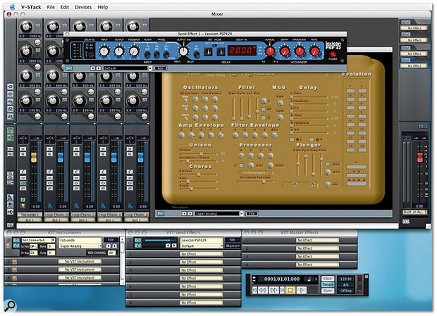 Steinberg's previously Windows-only VST Instrument host, VStack, is now available for Mac OS X, with support for 16 VST Instruments, VST System Link, Rewire and more.